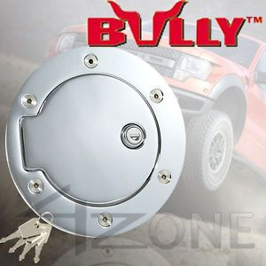 Bully Chrome Fuel Gas Door w Lock 97 03 Ford F150 F250 LD 99 11 F250 F350