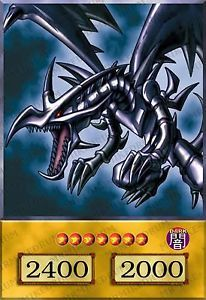 Yugioh Orica Red Eyes Black Dragon 4KIDS Dub Anime Style Common