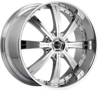 24 inch 24x9 5 Savini BM5 Chrome Wheels Rim 6x135 F150 Expedition Navigator 6LUG