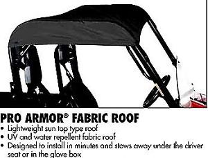 Yamaha Rhino Black Canvas Roof Cab Cover Pro Armor