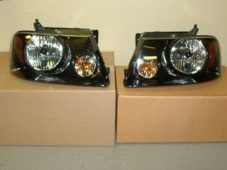 2007 2008 Ford F150 Harley Davidson Headlight Head Lamps Pair Set New Parts