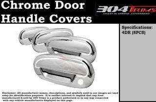 Fits Ford F150 4DR 2001 2002 2003 w O Keypad Chrome Door Handles Covers NPK