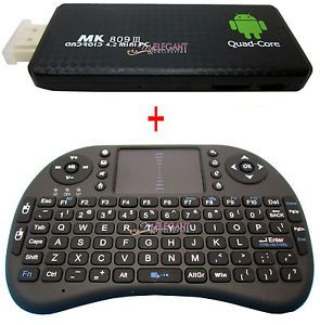 MK809 Quad Core Bluetooth Android 4 2 Mini PC TV Box Wireless Keyboard Mouse