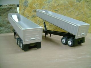 Two End Dump Trailers 1 64 Scale Construction Sand Gravel Trailers