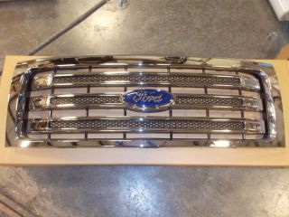 Ford F150 Lariat Chrome Grill 2013 New Take Out Fits 2009 2010 2011 2012 2013