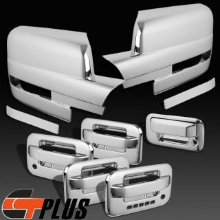 09 12 Ford F150 Triple Chrome Door Handle Tailgate Mirror Cover Crew Cab w PSKH