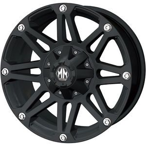 17x8 Black Mayhem Riot 5x5 5 10 Wheels Toyo Open Country MT LT265 70R17 Tires