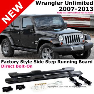 Jeep Wrangler 07 13 Unlimited 4 Door Black Running Board Side Steps Nerf Bars
