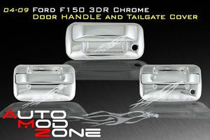 04 2013 Ford F150 3DR Chrome Door Handle Cover Trim w O Passenger Keyhole