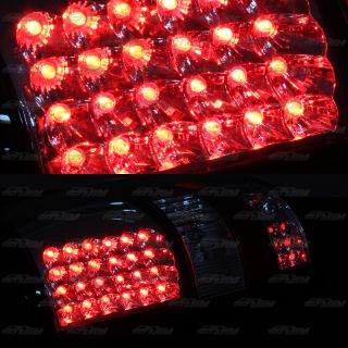 2004 2008 Ford F 150 Style Side Chrome Black Housing LED Rear Tail Light Lamps