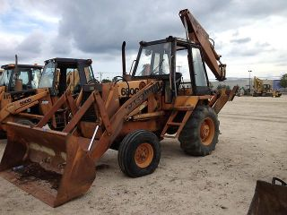 Case 680G Backhoe Loader Hoe 780 680 580 Track Hoe Rubber Tire Loader