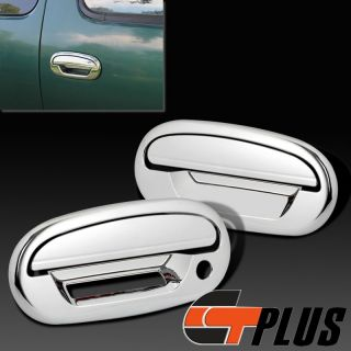 97 03 Ford F150 Pickup Triple Chrome Side Door Handle Cover Trim Bezel Crew Cab