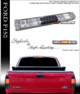 Blk Chrome Clear LED 3rd Third Brake Rear Tail Light Lamp Op 1997 2003 Ford F150