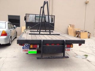 07 Isuzu NPR Utility Truck Service Body Rack 12ft Flat Bed Plumber Diesel Box
