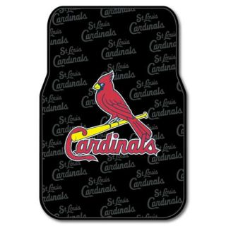 St Louis Cardinals MLB Licensed Rubber Car Truck Floor Mats Set 2 Mats
