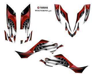 Yamaha Wolverine 450 ATV Graphic Decal Sticker Kit 4444RED