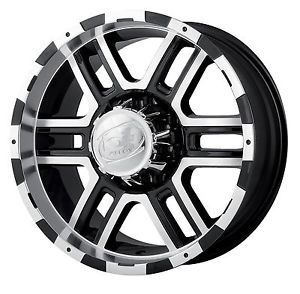 "17"" ion Black Wheels 33"" Toyo AT2 Tires 6x5 5 6 Lug Chevy GM Nissan Toyota Truck"