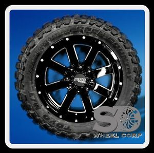 "20"" x 9"" Moto Metal MO962 Black with 33x12 50x20 Toyo Open Country MT Tires"