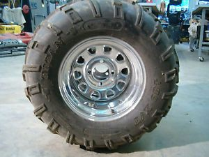 Titan 25x11x12 ATV Tires on Crome ITP Wheels Polaris Honda Suzuki Yamaha