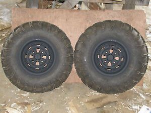 Honda 300 Fourtrax TRX Front Wheels Tires ITP Mud Lites 25x8x11 Near New