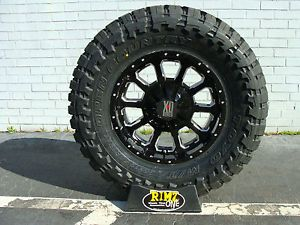 "18"" XD Bomb XD806 Black 33x12 50R18 33x12 50 18 Toyo Open Country MT 33"" Tires"