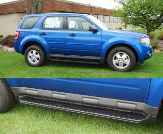 Custom Running Boards 2008 2012 Escape Mariner Tribute Factory Style Black Steps