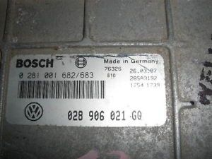 1997 1998 VW Jetta TDI M T ECU ECM Engine Computer 0281001682 683 028906021GQ