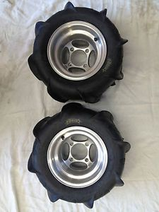 ITP Sand Star Paddle Tires and Rims Fits Raptor Warrior Banshee YFZ 450 4 115