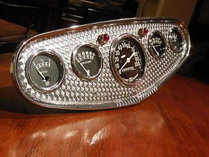 Stewart Warner 5 Gauge Dash Panel Instrument Cluster SW Speedometer Hot Rod Scta