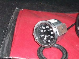 "82326 216 Stewart Warner Deluxe 216"" Tube Mechanical Water Temperature Gauge U"