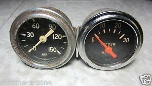 Vintage Stewart Warner Vacuum Air Gauges Custom Hot Rat Rod SW