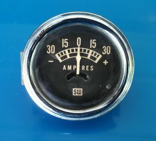 Vintage Stewart Warner Amp Gauge 1950's 1960's SW Hot Rod Rat Rod 2 1 8