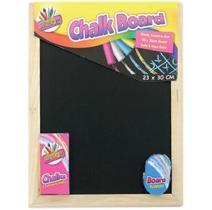 Small Chalk Black Board Blackboard Dry Wipe Drywipe Erase White Chalk Eraser Set