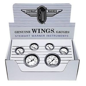 Stewart Warner Wings Analog Gauge Boxed Kit 82222