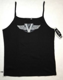V50 Victory Motorcycle Womens Tank Top Shirt Black XXL 2X