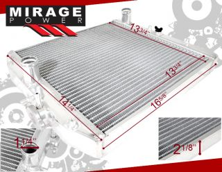Integra Civic Del Sol CRX Dual Core Turbo Series Radiator B D Series Engine