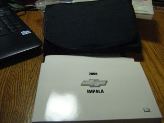 2008 Chevy Impala Owners Manual Service Guide Book w Case 08 Chevrolet