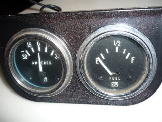 "Stewart Warner Vintage 2 1 16"" Gauge Set Amp and Fuel"