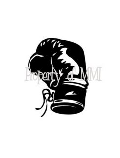 Boxing Glove Style 2 Vinyl Decal Car Truck Window Wall Laptop Fight Ring Gloves