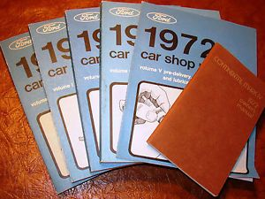 1972 Ford Lincoln Continental Mark IV 4 Shop Repair Manuals Owners Book NIB