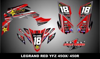 2009 2012 YFZ 450X 450R Custom Made Graphics Kit Decal Pegatinas Graficas