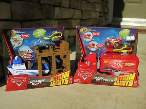 Disney Pixar Cars 2 Action Agents Northwestern Crabby Boat Mack Spy Truck