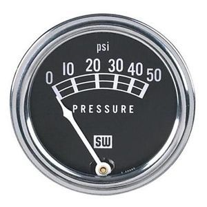 Stewart Warner Standard Mechanical Oil Pressure Gauge