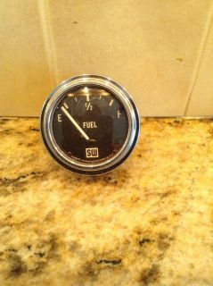 Vintage Stewart Warner Curved Glass Fuel Gauge Scta 32 Ford Hot Rod