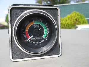 Vintage 2 '' Stewart Warner Motor Minder Engine Vacuum Gauge Includes Panel