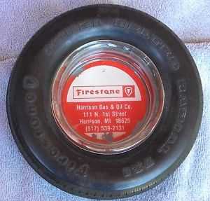 Vintage Firestone Super Belted Radial 721 Tire Ashtray
