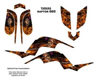 Yamaha Raptor 660 Graphics Kit Zombie Girl 9700N