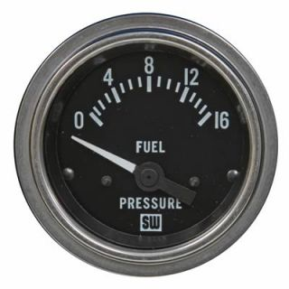 "Stewart Warner Deluxe Series Electrical Fuel Pressure Gauge 2 1 16"" Dia 82333"