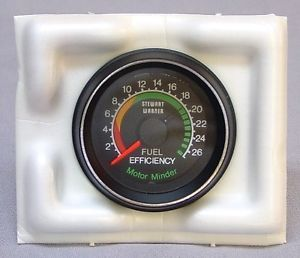 Vintage Stewart Warner Motor Minder Fuel Efficieny Gauge 82301 SW