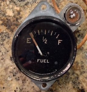 Original 1940's Stewart Warner Curved Glass Auburn Gas Fuel Gauge 1932 Ford